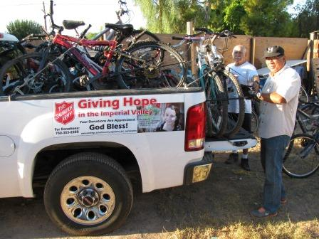 Salvation Army load of Bikes